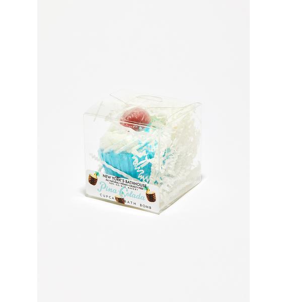 New York's Bathhouse Pina Colada Cupcake Bath Bomb