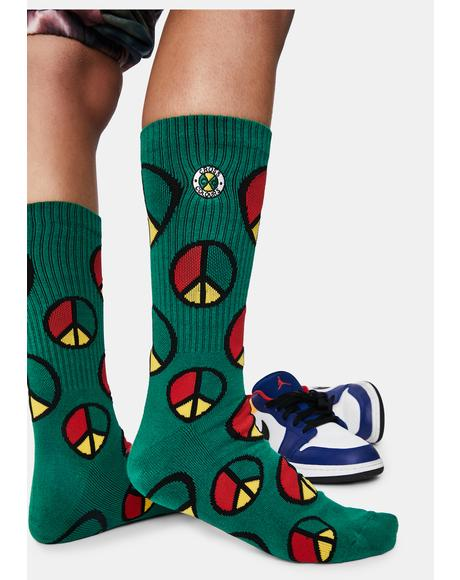 Peace In The Hood Crew Socks
