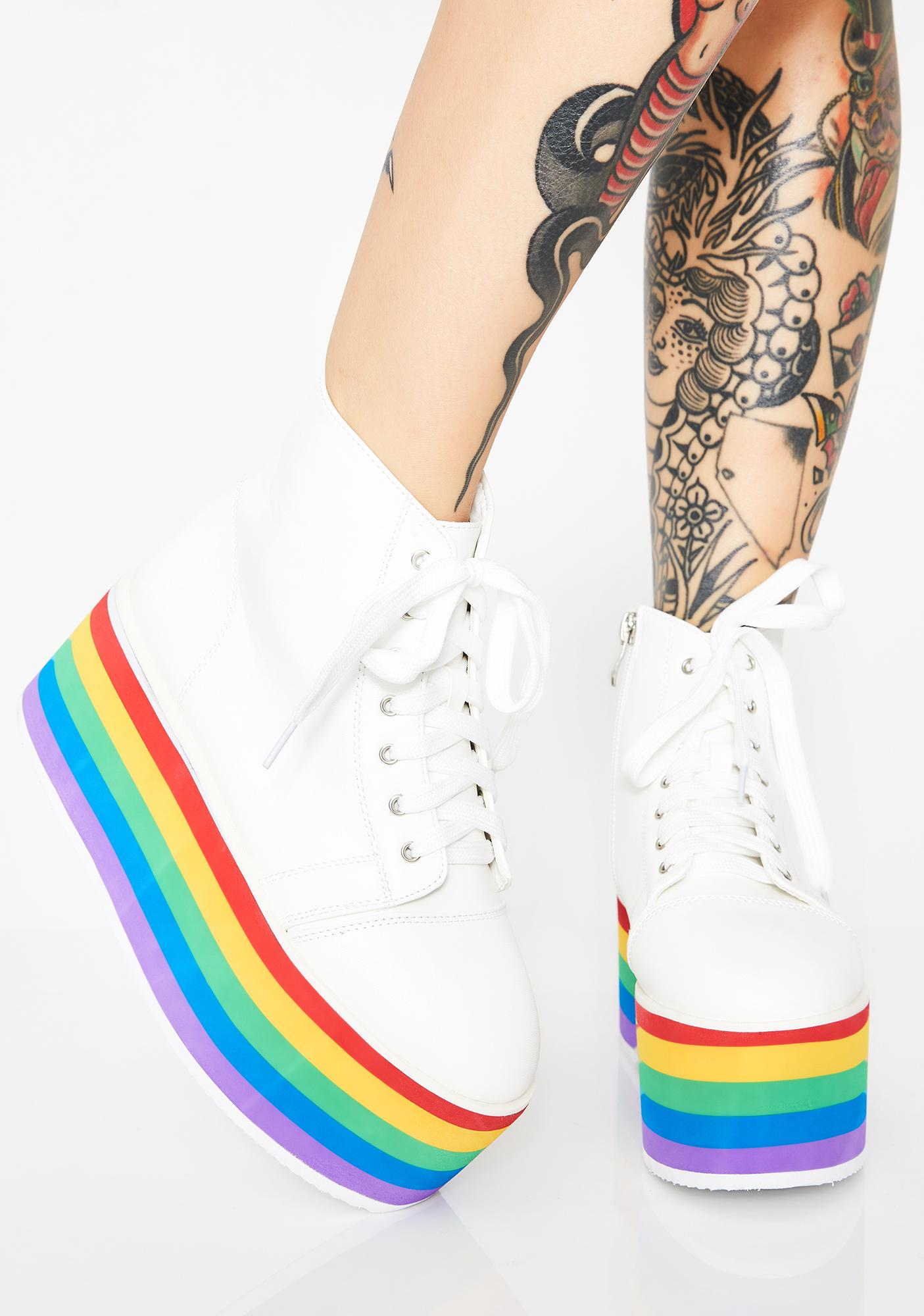e10bcd06b20b Rainbow Rebellion Platform Sneakers