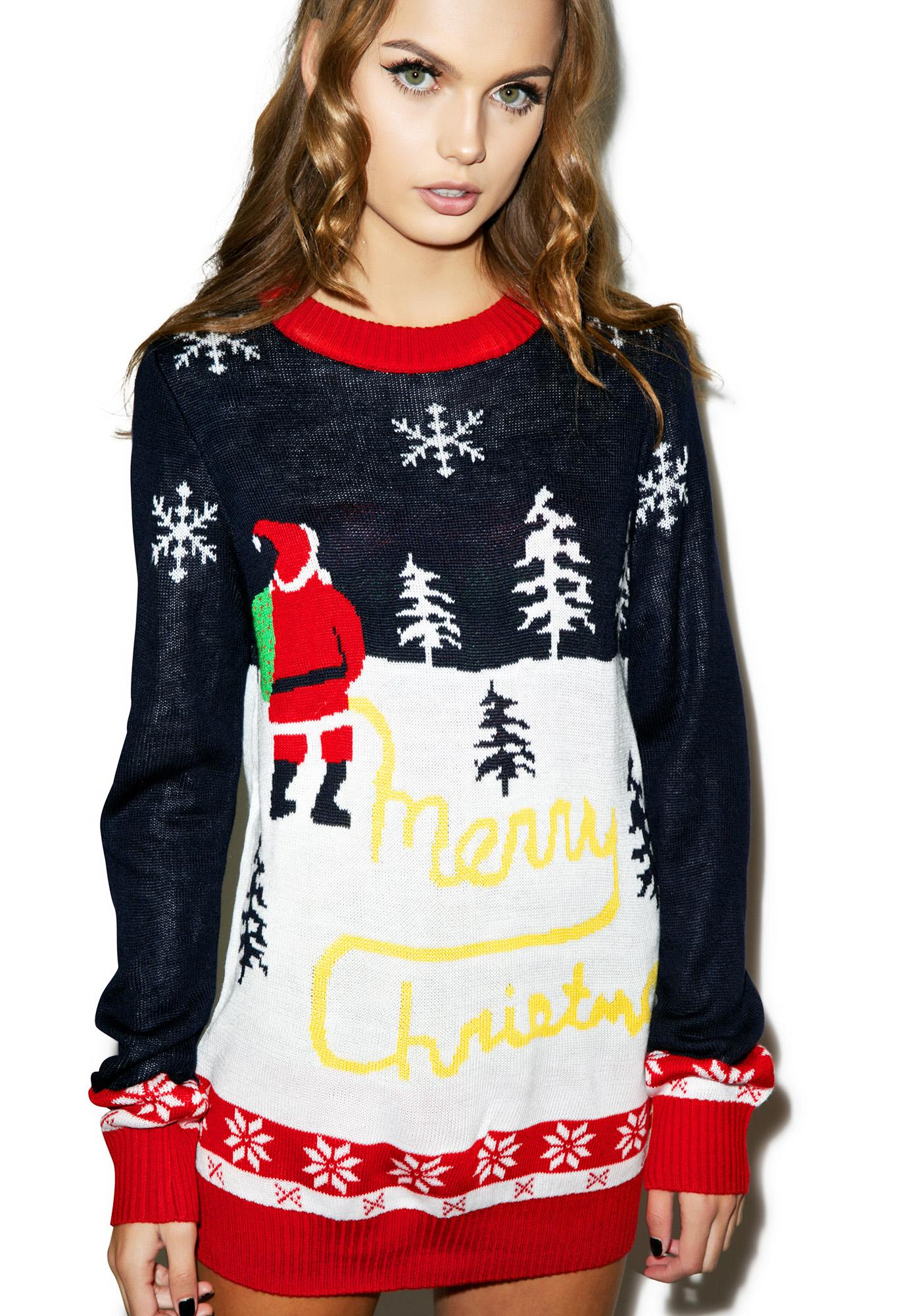 Tipsy Elves Yellow Snow Sweater