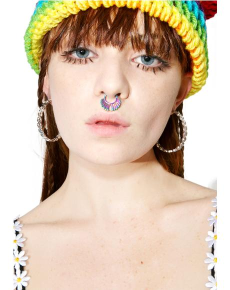Keep The Peace Hoop Earrings