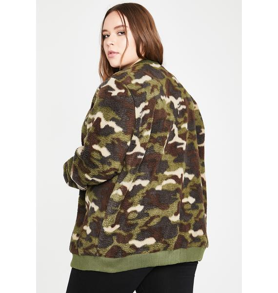 I'm On The Loose Sherpa Jacket