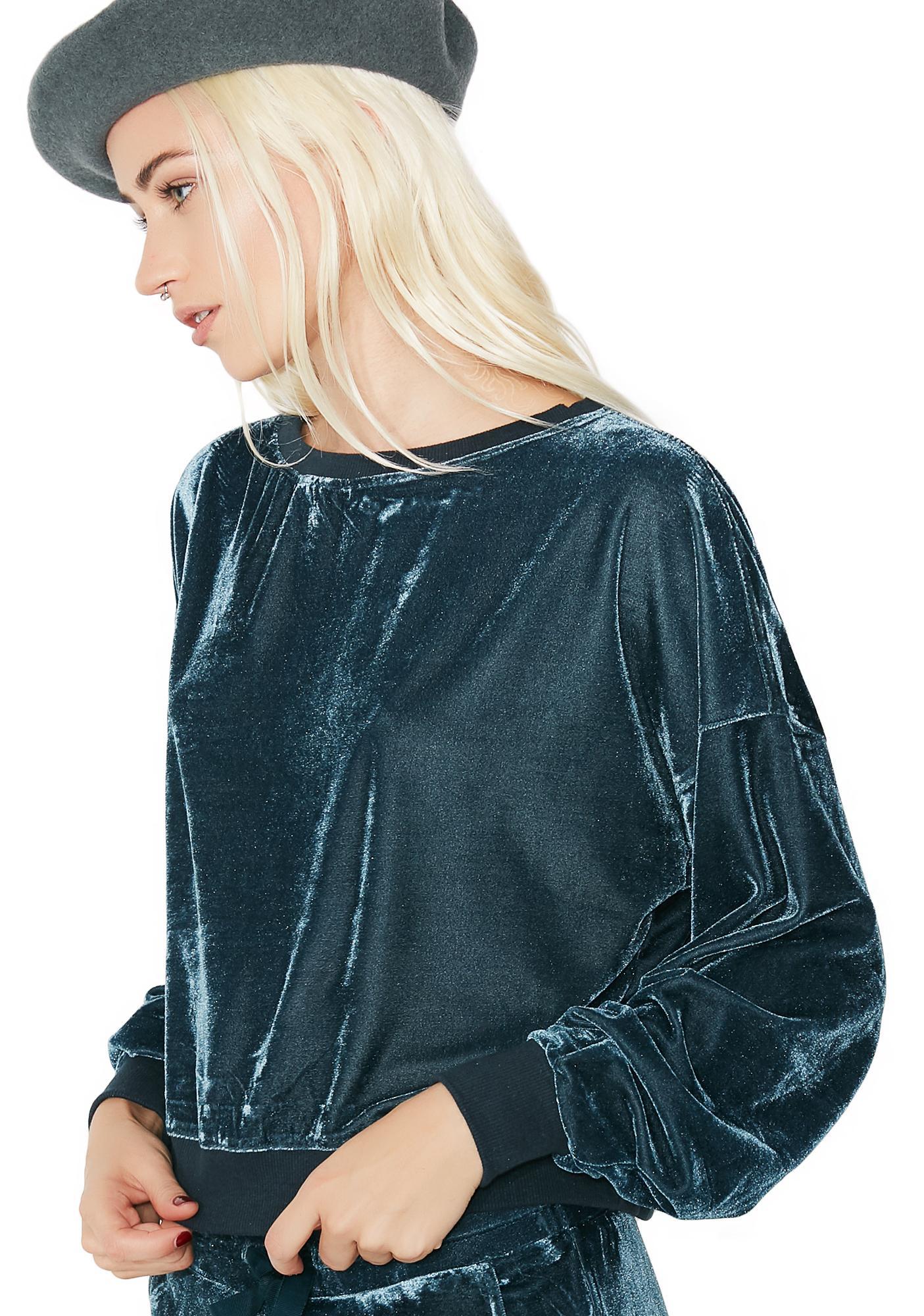 Go Get It Velour Pullover Sweatshirt