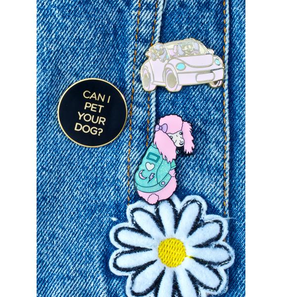Unicorn Rockstar Can I Pet Your Dog Pin