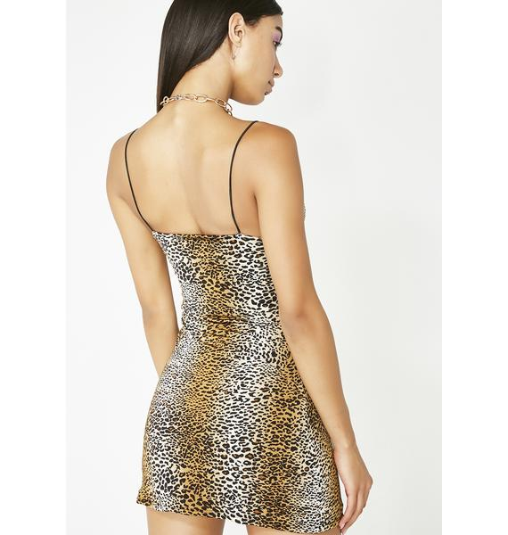 O Mighty Leopard Mini Dress