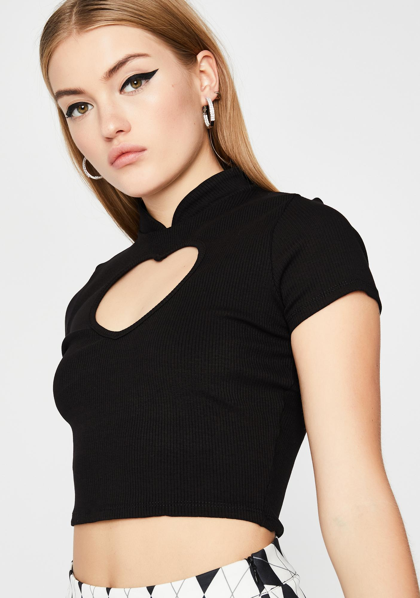 Night Love More Cut-Out Top