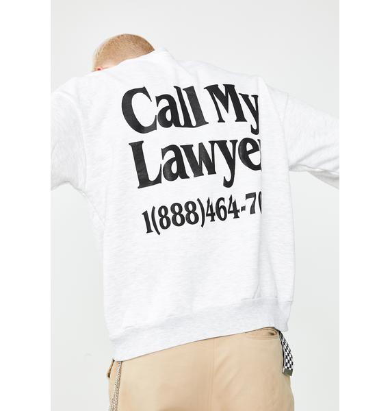 CHINATOWN MARKET Legal Services Graphic Sweatshirt