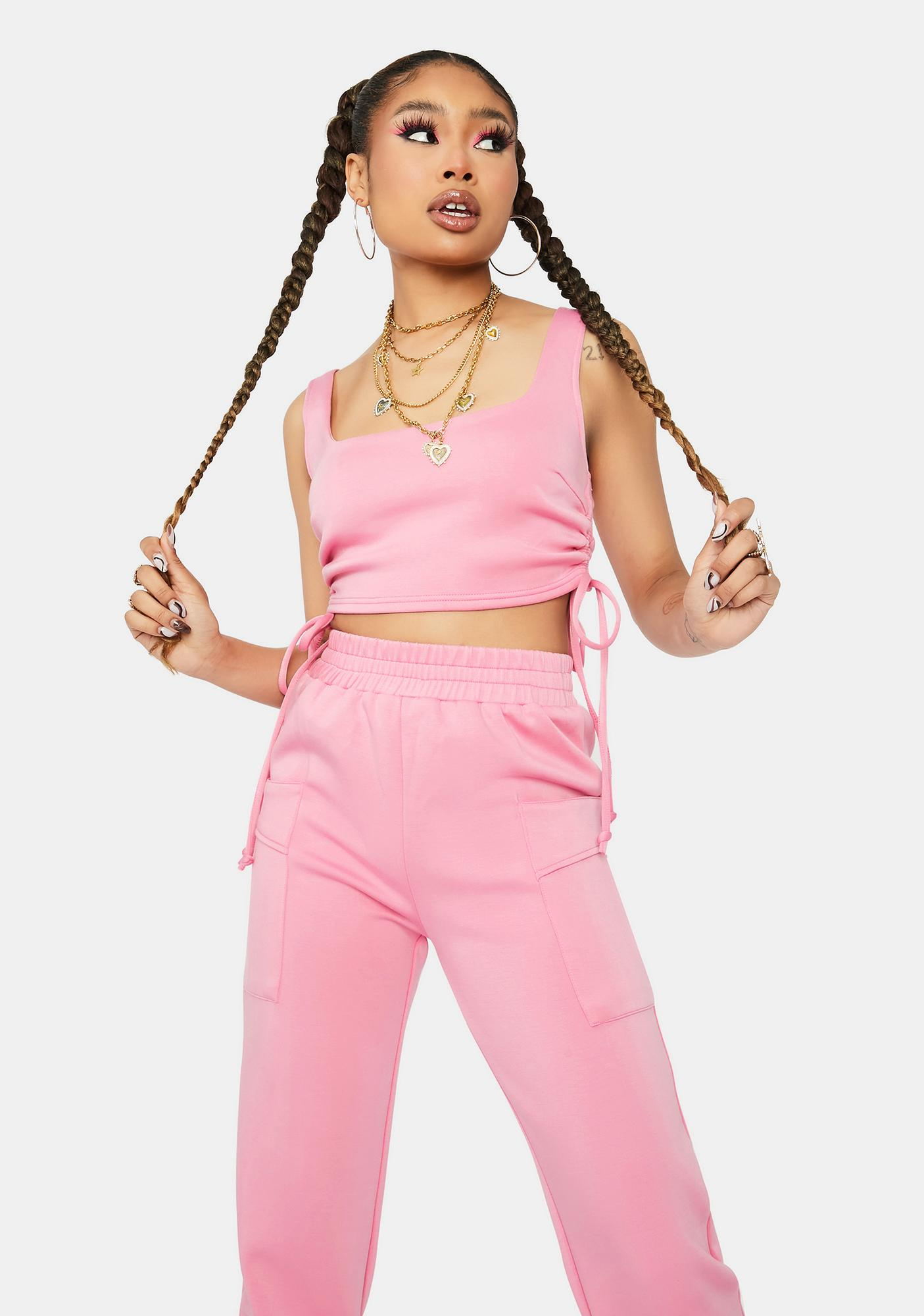 Sweet Catch My Breath Crop Top And Jogger Set
