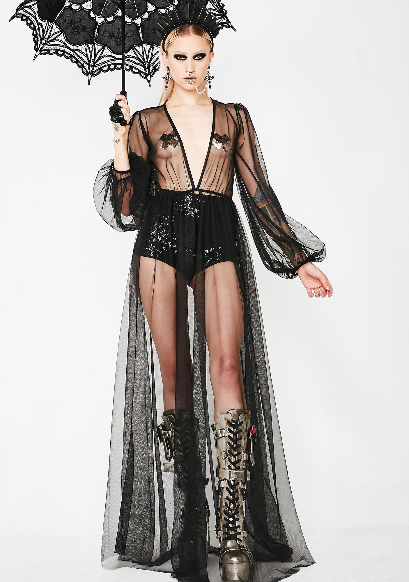 Sheer Long Nightgown | Dolls Kill
