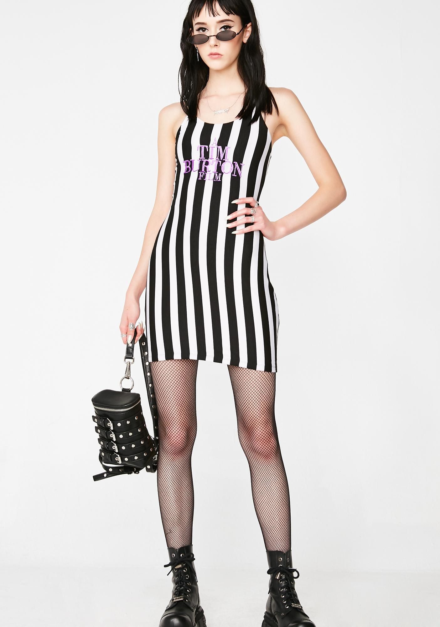 O Mighty Tim Burton Skinny Dress