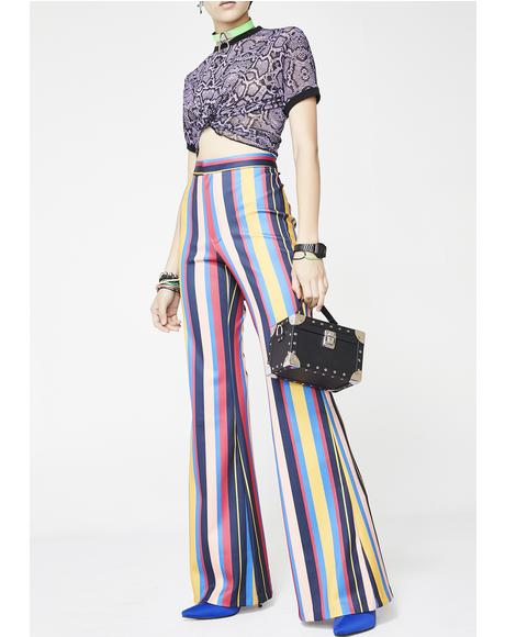 Funkytown Striped Pants