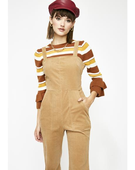 Funk Town Corduroy Overalls