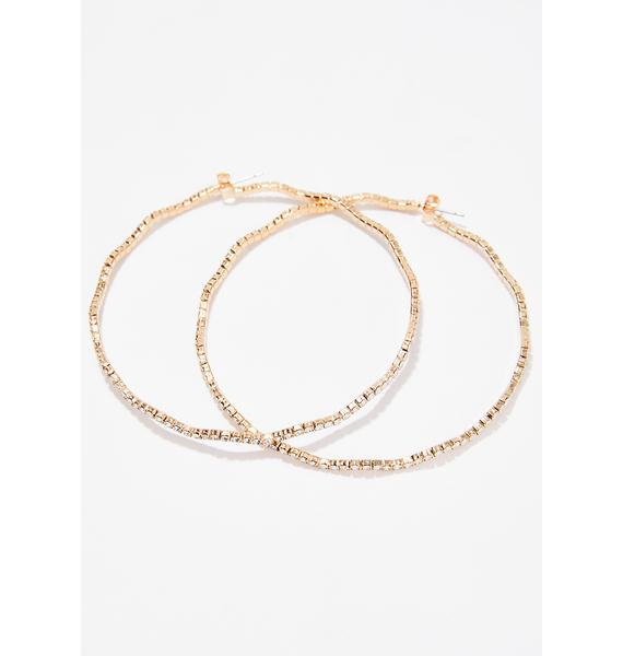 Wavelength Rhinestone Hoops