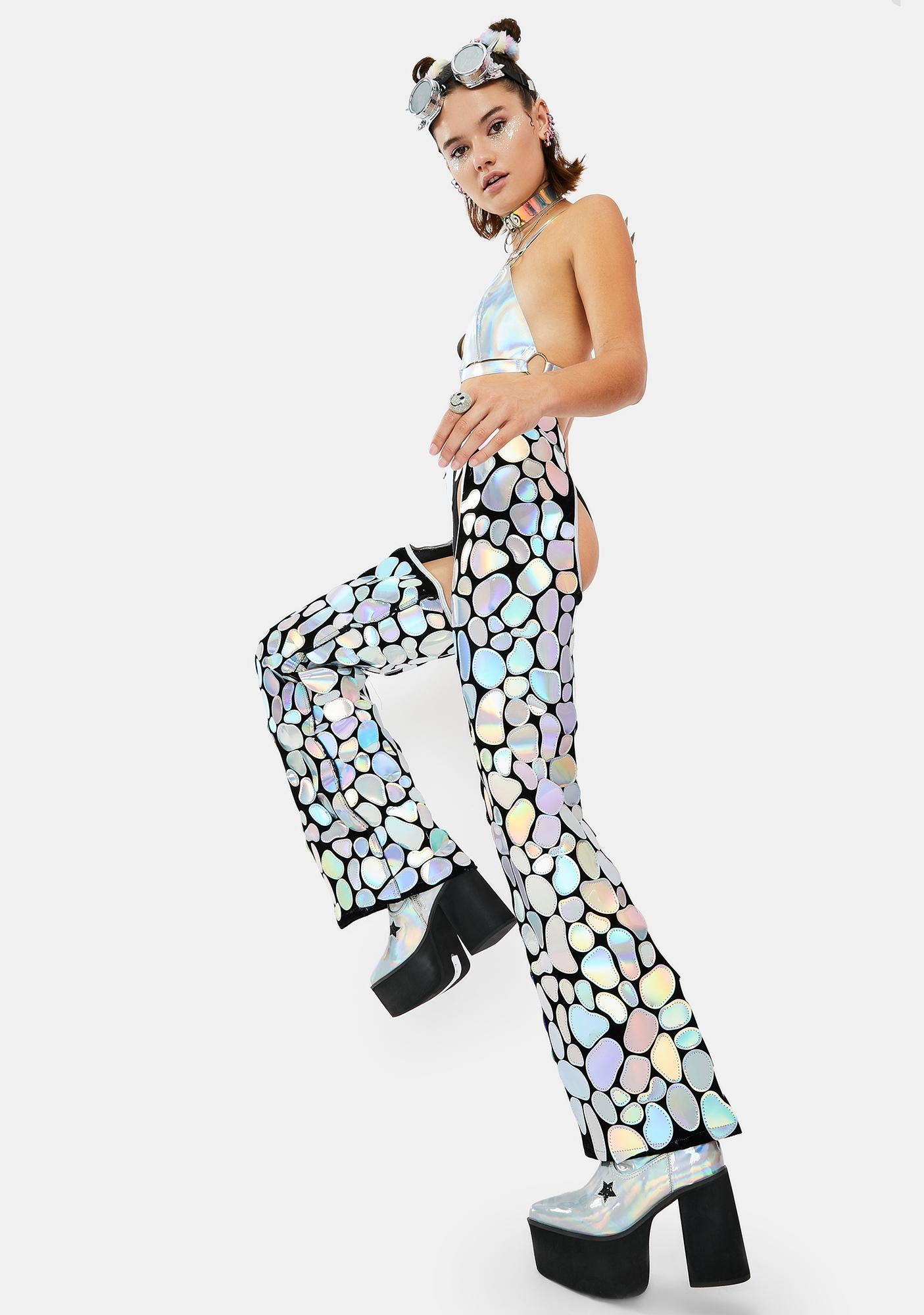 Roma Rave Rodeo Holographic Chaps