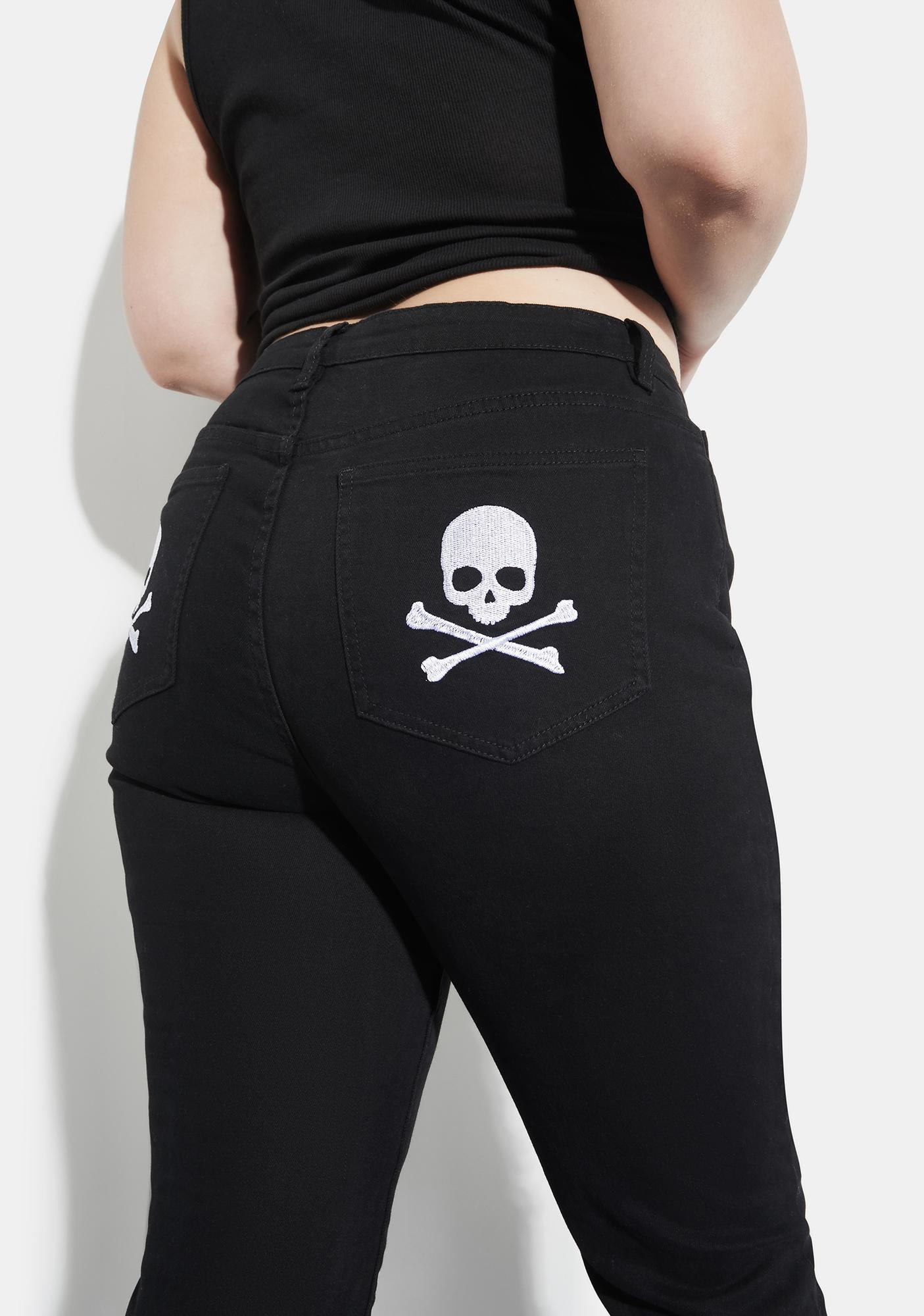 Current Mood Her Famous Last Words Distressed Skinny Jeans