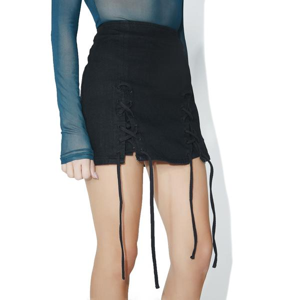 I Want Action Lace-Up Skirt