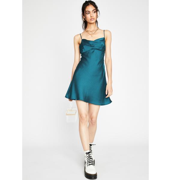 Berry Past Curfew Slip Dress