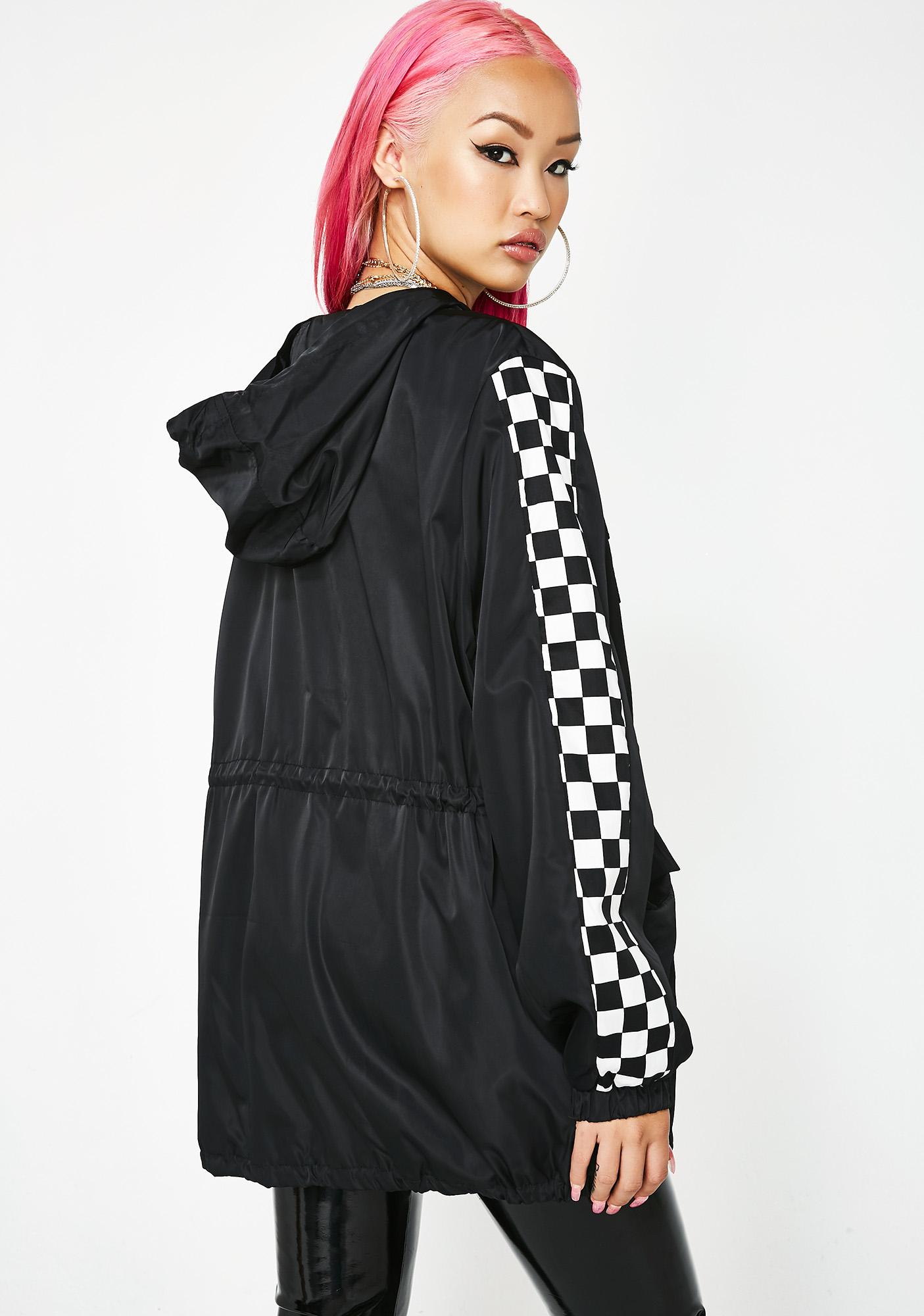 Glamorous Speed Addiction Checkered Jacket