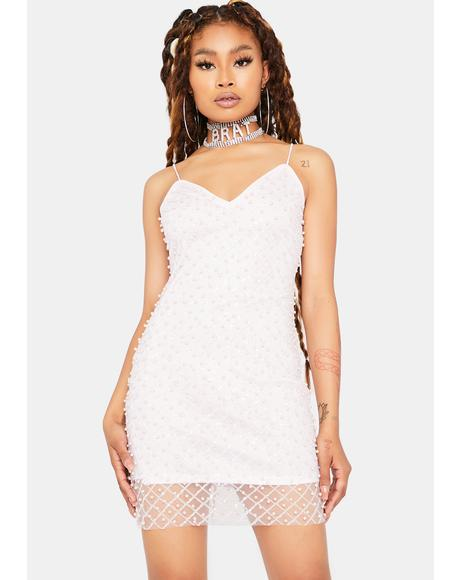 Baby I'm Shining Rhinestone Mesh Dress