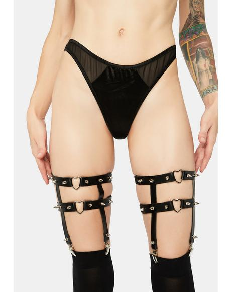 Love Sick Studded Garters