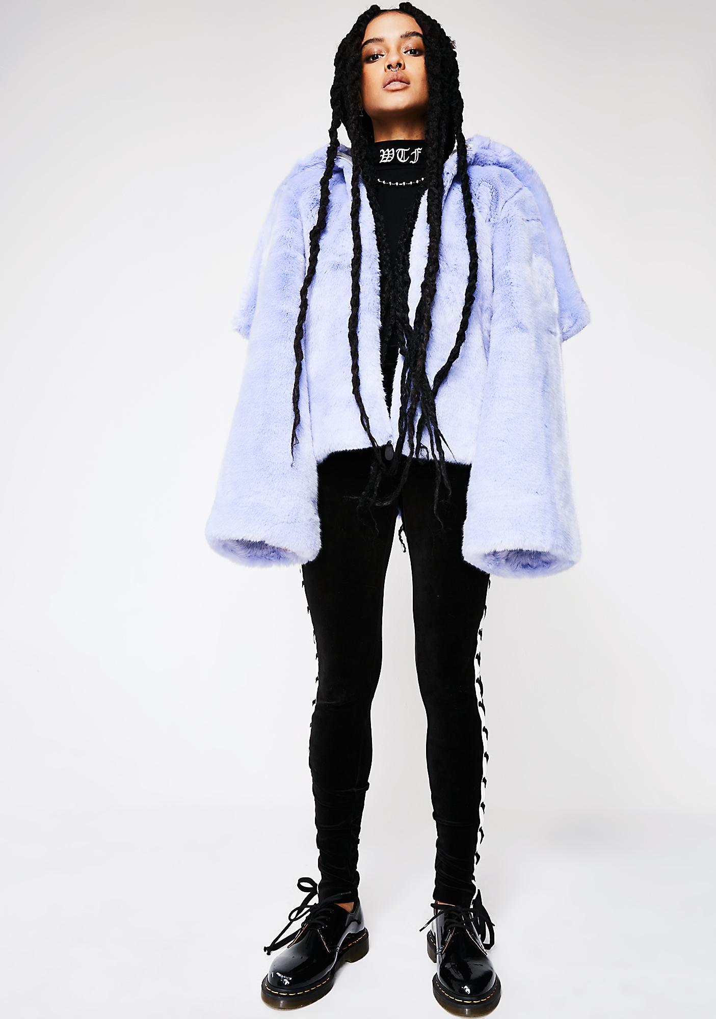 size 40 f0d15 8a492 FENTY PUMA By Rihanna Faux Fur Shawl Collar Jacket