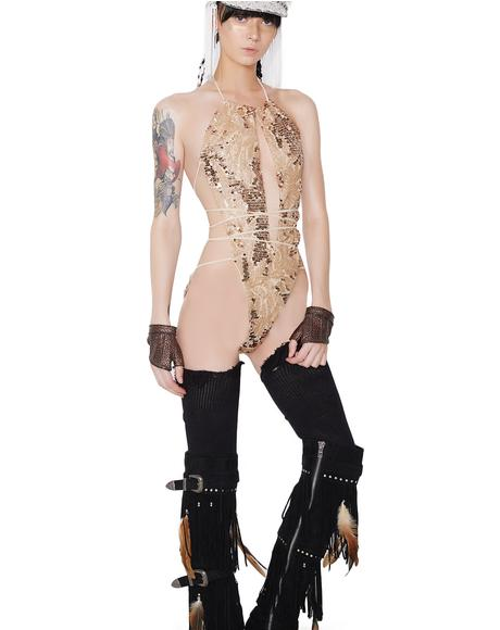 Goldfinger Sequin Bodysuit
