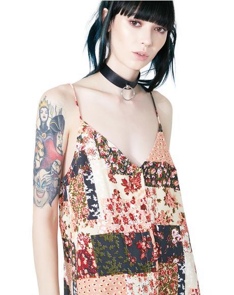 Patchwork Sanna Slip Dress