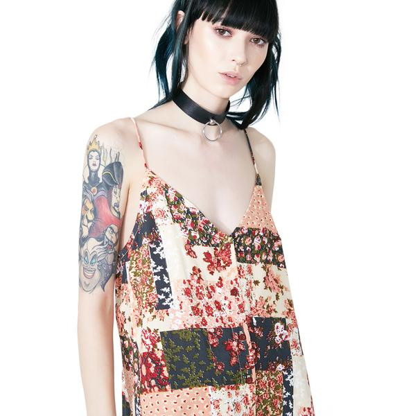 Motel Patchwork Sanna Slip Dress