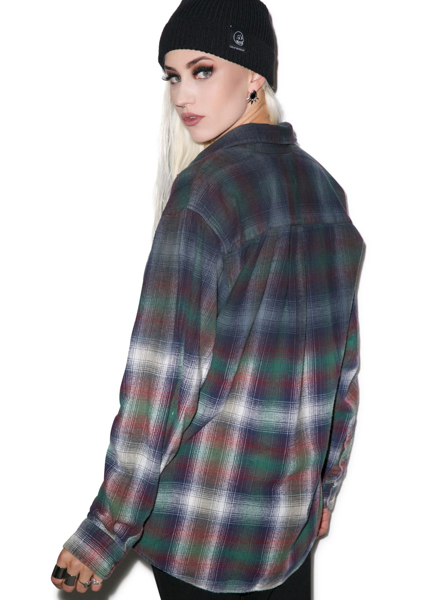 Ex Cowboy Ombre Plaid Button Down