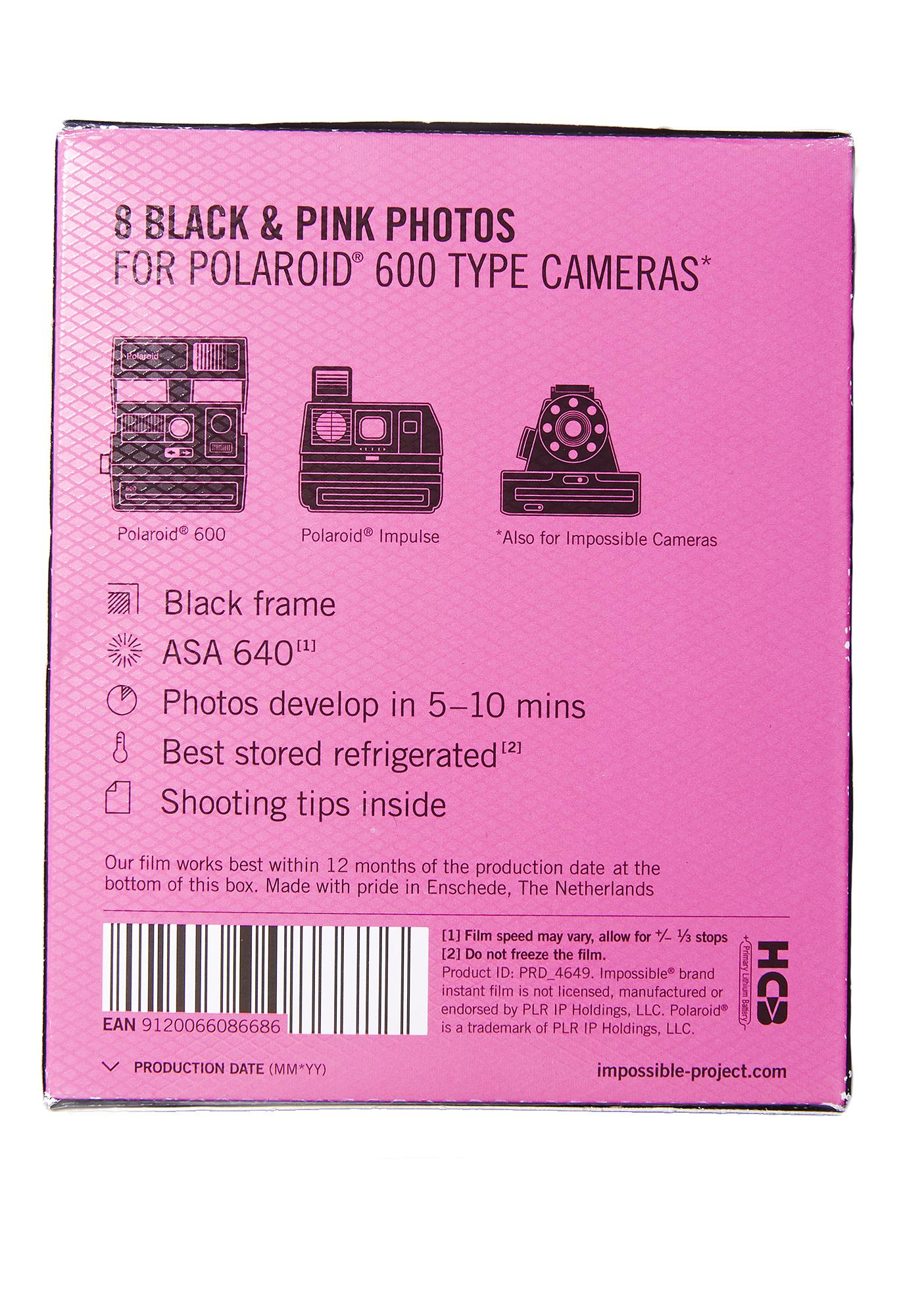 The Impossible Project 600 Duo Chrome Black & Pink Film