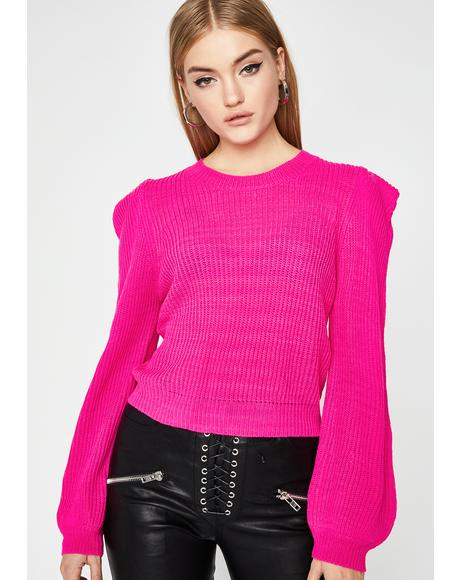 Make Your Statement Knit Sweater