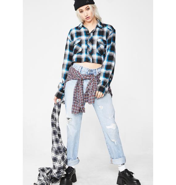 Current Mood Rude Girl Vintage Flannel Top