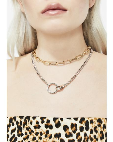 Strike Back Chain Necklace