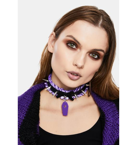 Under The Grave Spiked Choker