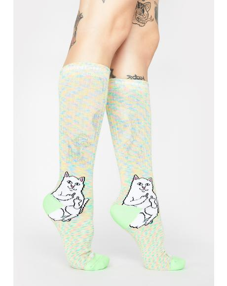 Mint Speckle Lord Nermal Socks
