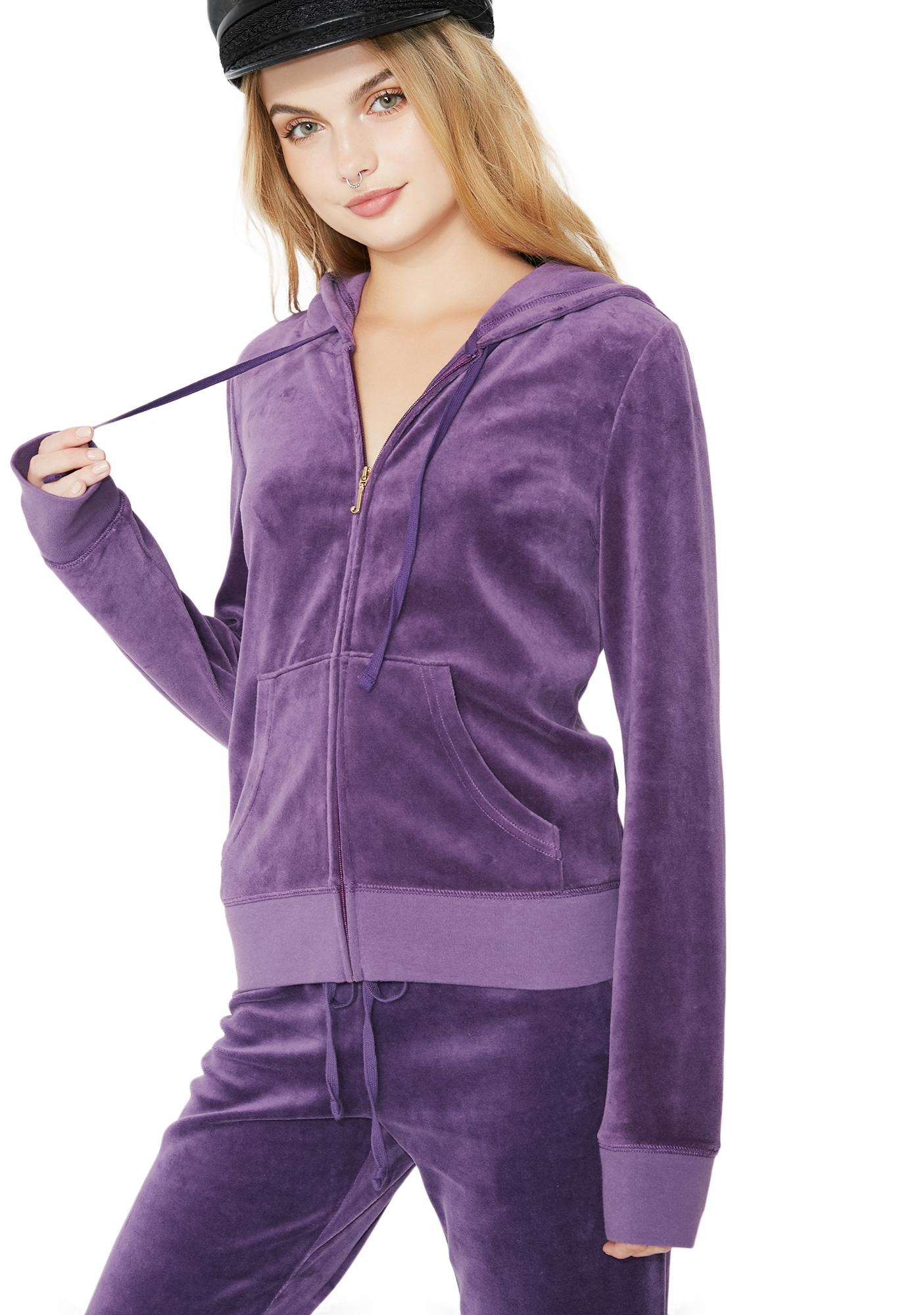 JUICY COUTURE Violet Robertson Velour Jacket