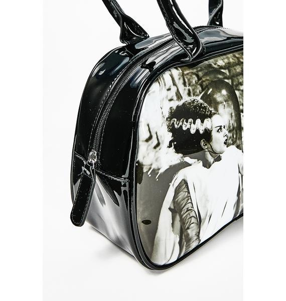 Rock Rebel We Belong Dead Bowler Handbag