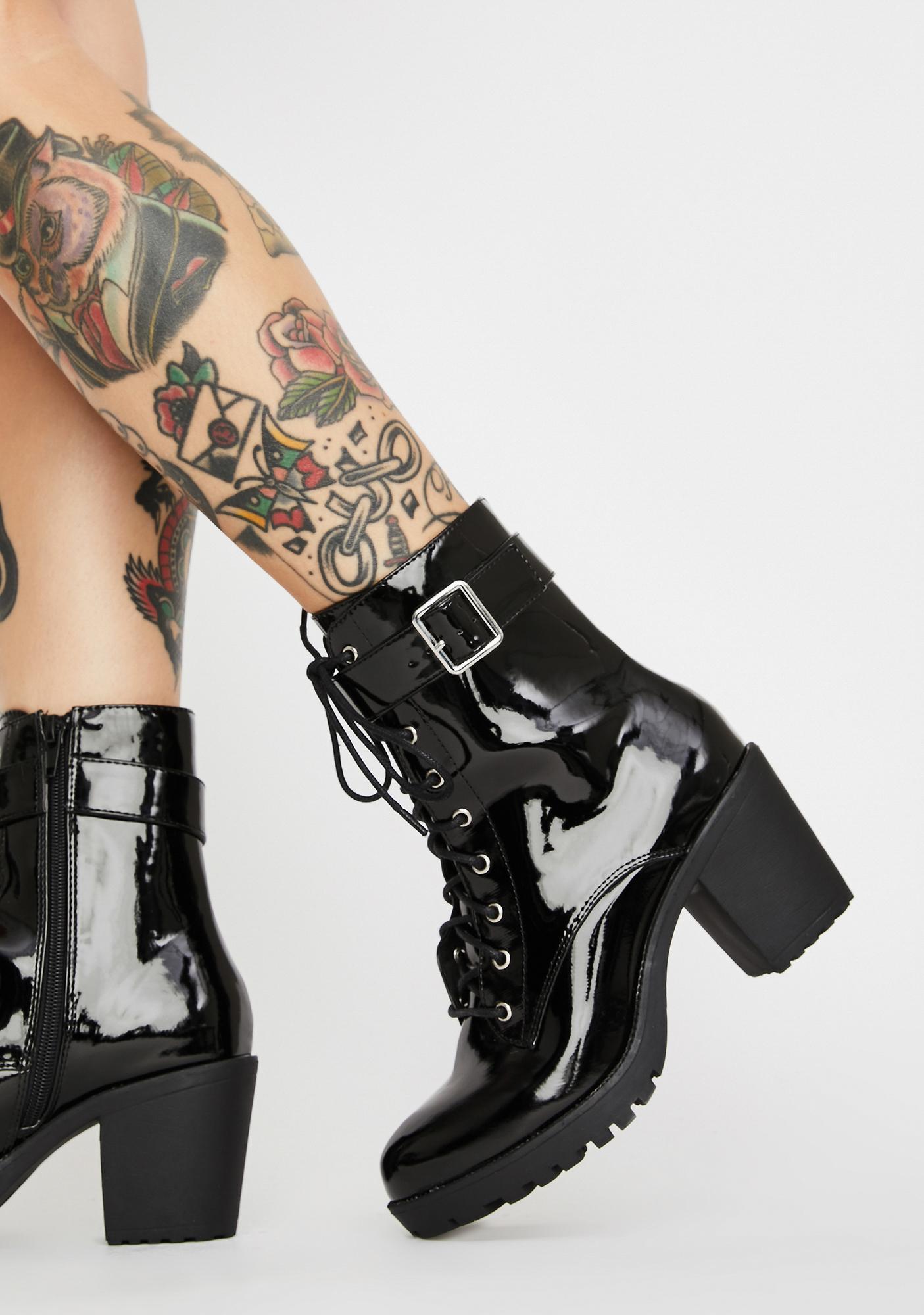 Yas Hunty Patent Boots