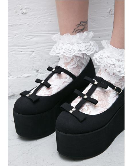 All Bows Down T-Strap Flatform