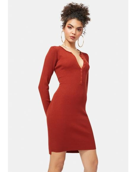 Rust Ryder Knit Dress