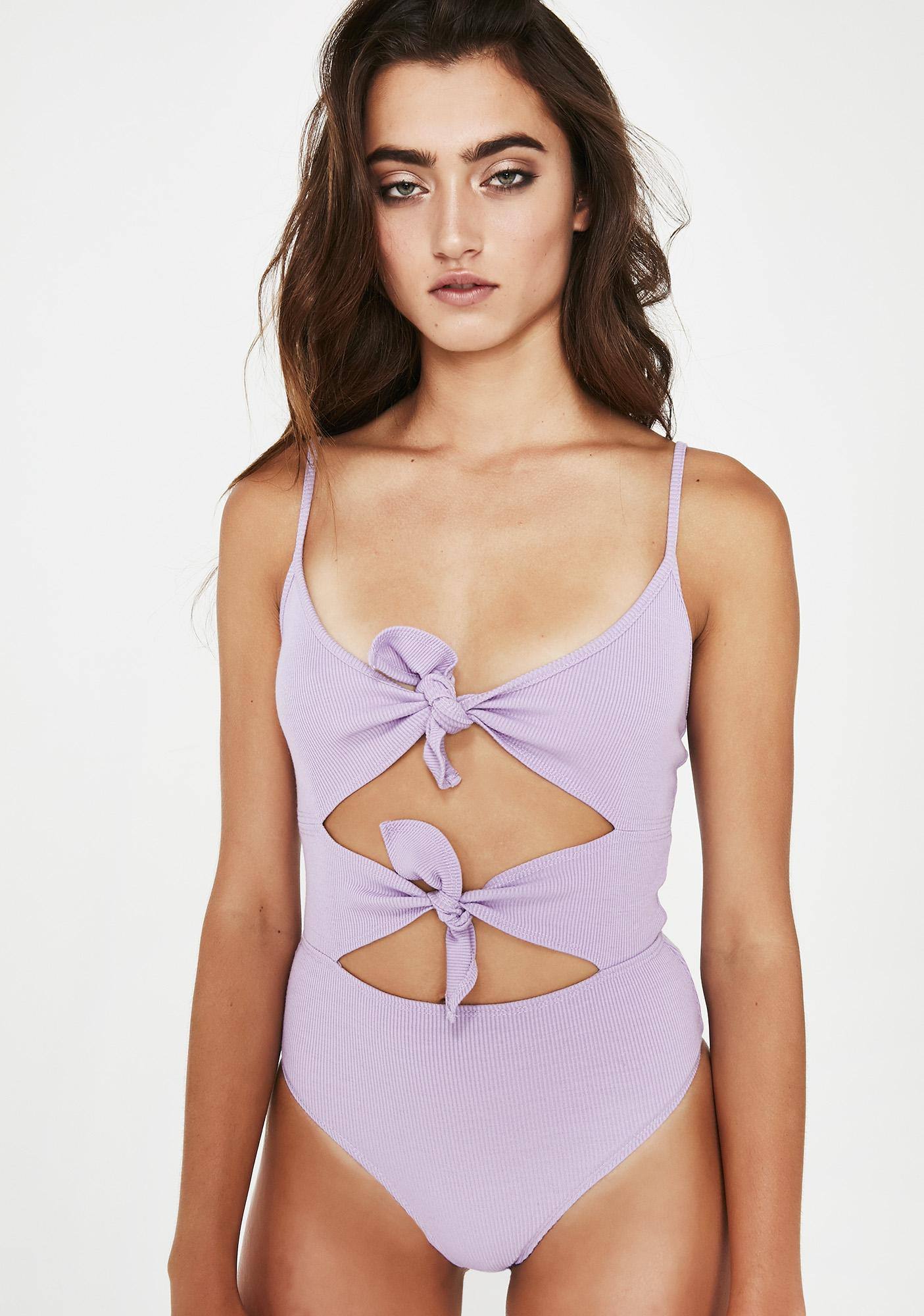 Lilac Make It A Double Tie Bodysuit