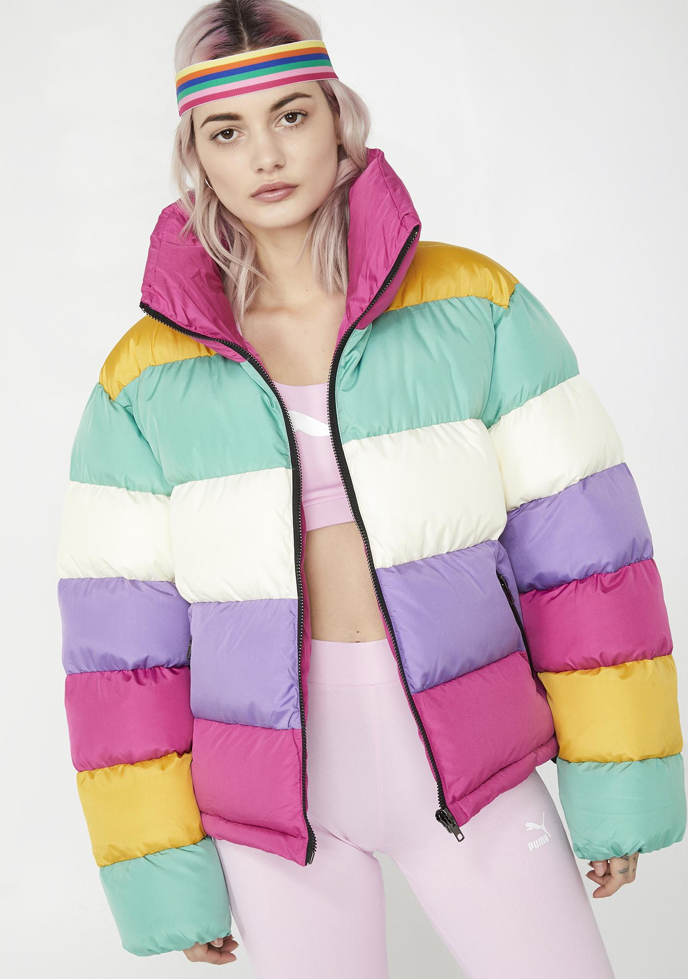 Glamorous Ice Cream Dream Puffer Jacket