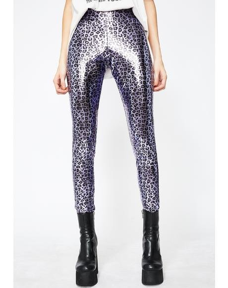 Magical Jungle Beats Metallic Leggings