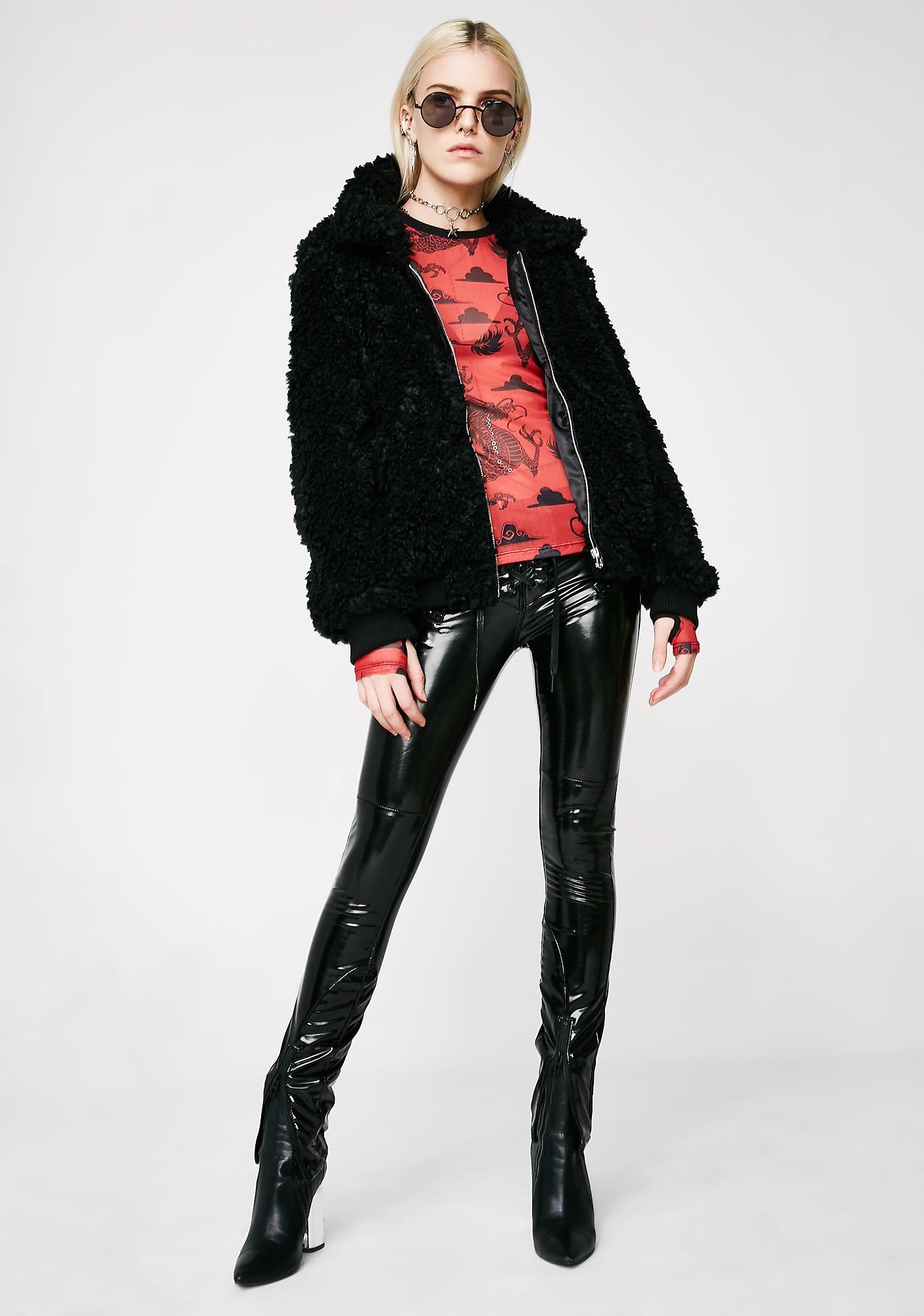 Onyx Love Bird Fuzzy Jacket