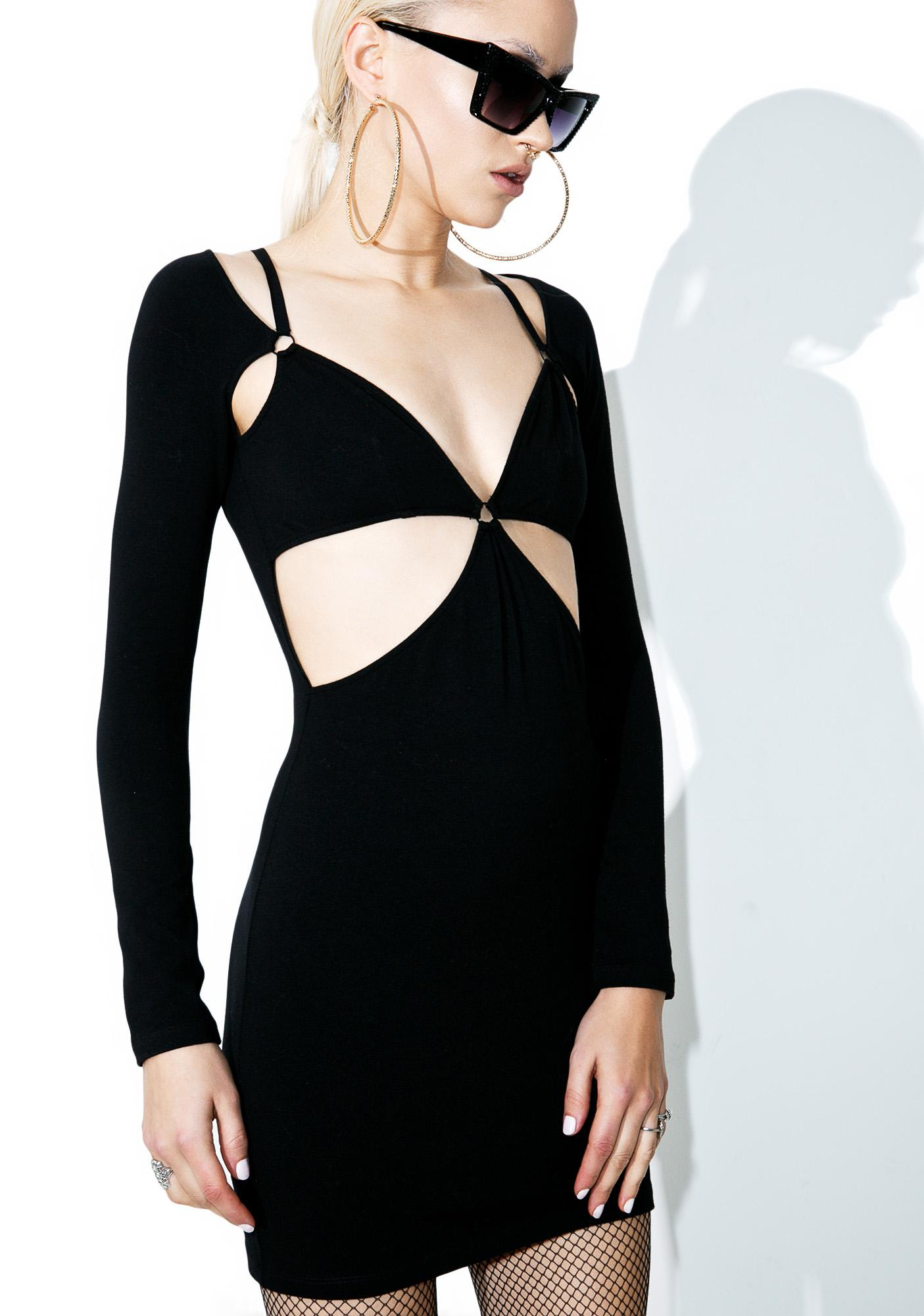 Iron Fist iHeart Cut Out Bodycon Dress