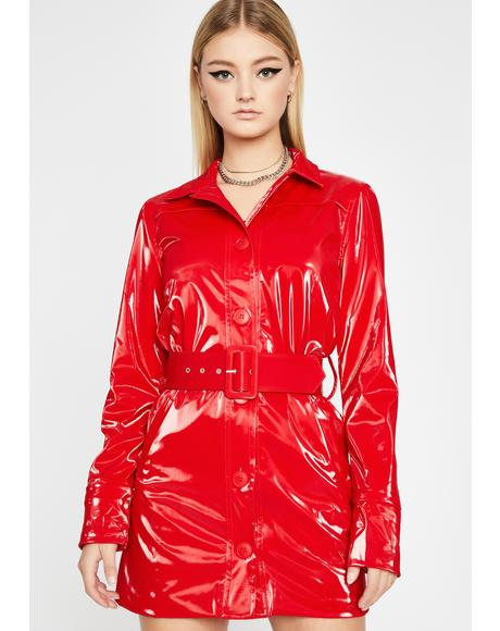 Lips Like Candy Belted Trench