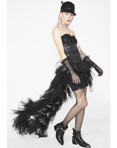 Punk Glamour Tulle Maxi Dress