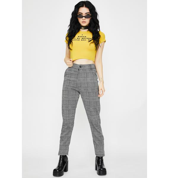 CLUBSTAR NYC I Would But Graphic Crop Tee