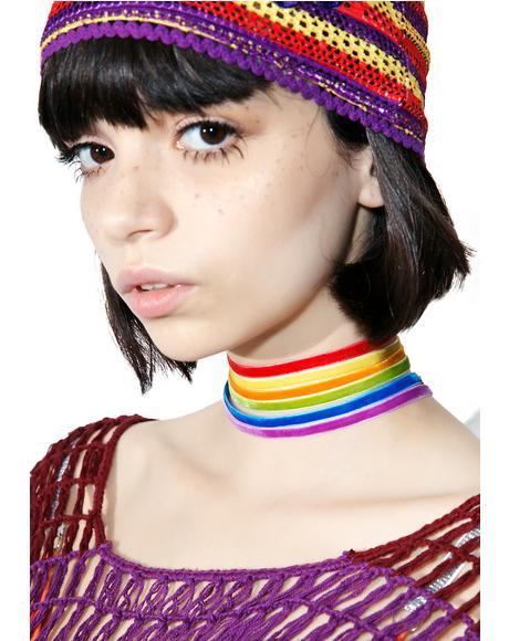 Starlite Rainbow Choker Set