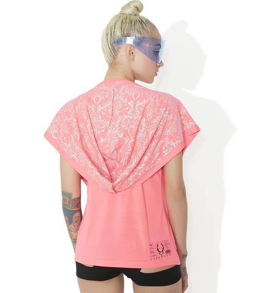 Cyberdog Drape Lace Vest